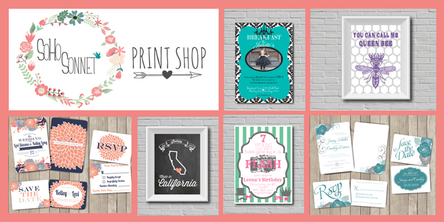 SohoSonnet Print Shop on Etsy