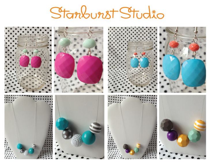 Starburst Studio Earrings and Necklaces