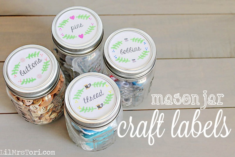 Craft Mason Jar Labels Free Printables