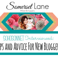SohoSonnet on Somerset Lane's Feature Friday