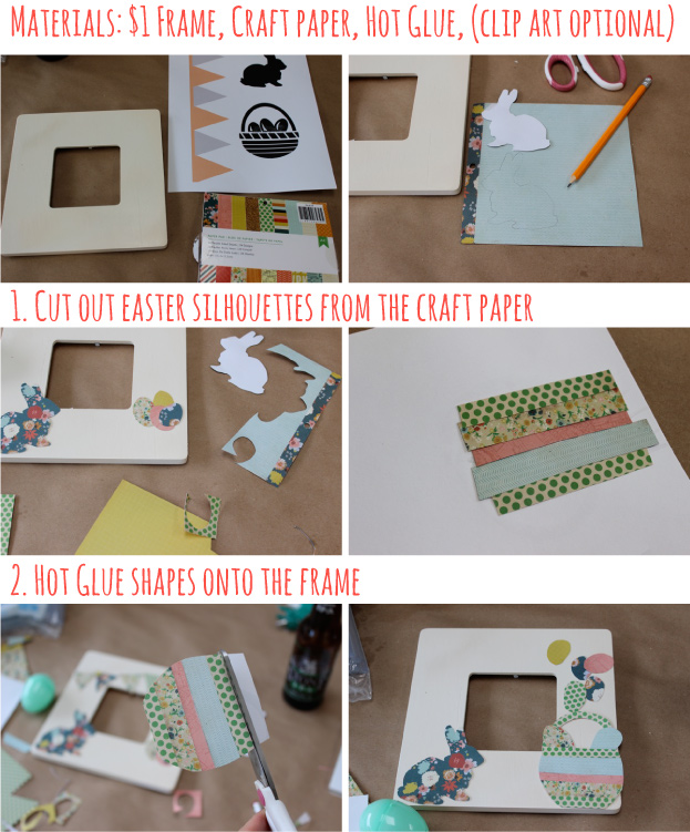 Easy DIY Easter Frame for 1 dollar - SohoSonnet Creative Living