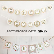 Anthropologie Challenge {Day #6} – Alphabet Free Banner Printable