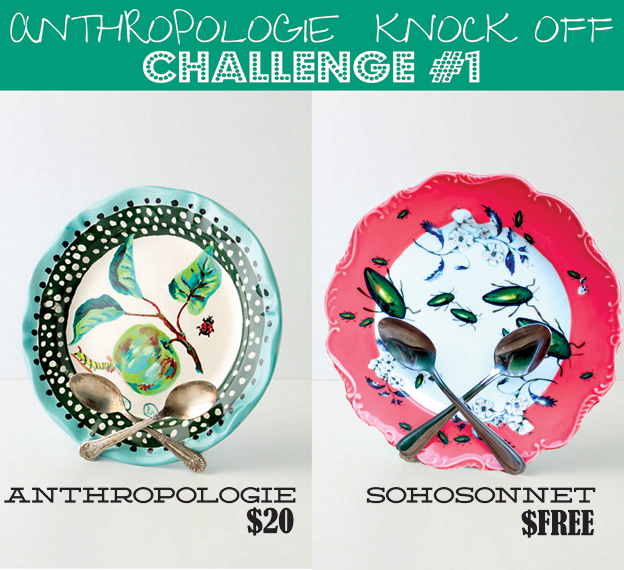 Anthropologie Challenge Week {Day #1} – Spoon Plate Stand