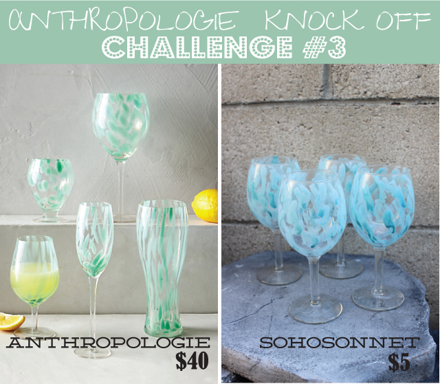 Anthropologie Challenge {Day #3} – Blue Swirl Glasses