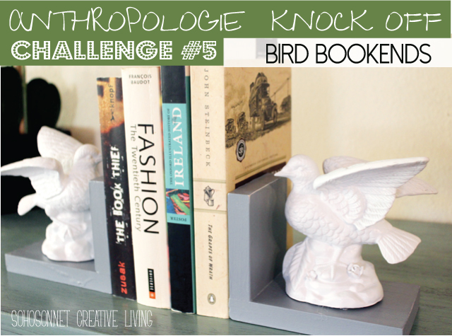 Bird Book Ends  Anthropologie Knock Off - SohoSonnet Creative Living