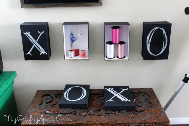 Chalkboard Storage & Artwork - SohoSonnet for My Crafty Spot
