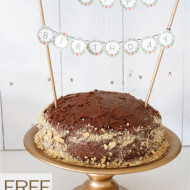 Free Printable Cake Topper {Contributor Post My Crafty Spot}