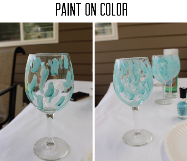 Nail Polish Swirl Glasses Anthropologie Knock Off - SohoSonnet Creative Living