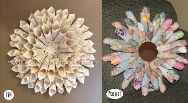 The pinterest challenge week 2 and 3 sohosonnet creative living paper flower circle mightylinksfo