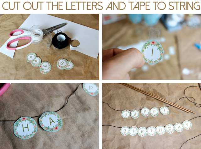 Printable Cake Topper Cut And Hang Letters