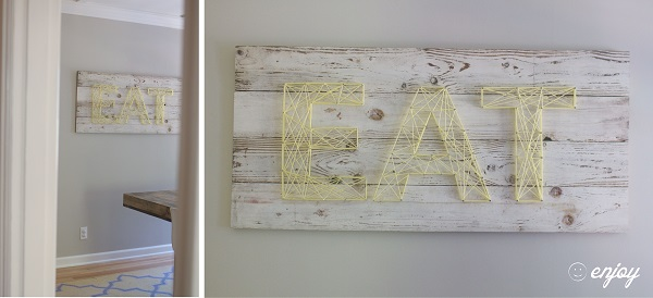 Reclaimed Wood String Art