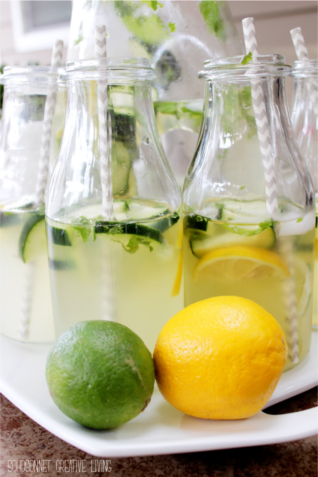 Cucumber Mint Lime White Wine Sangria - SohoSonnet Creative Living