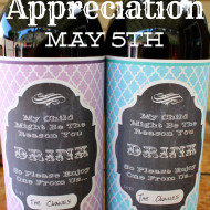 Teacher Appreciation Gift  – Wine Label Free Printable