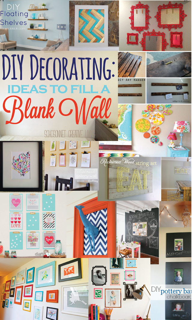 enjoyed this post and got some ideas for decorating your blank walls