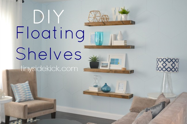 Floating wall shelves diy