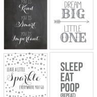 Free Nursery Printables {Guest Post at View From The Fridge}