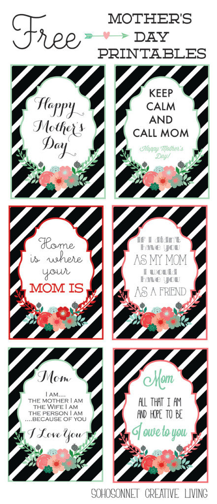 Free Mother's Day Printables {Cards + Prints}