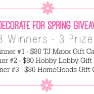 Redecorate For Spring Giveaway!!
