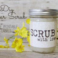 Sugar Scrub + Burlap and Lace Printable Jar Labels