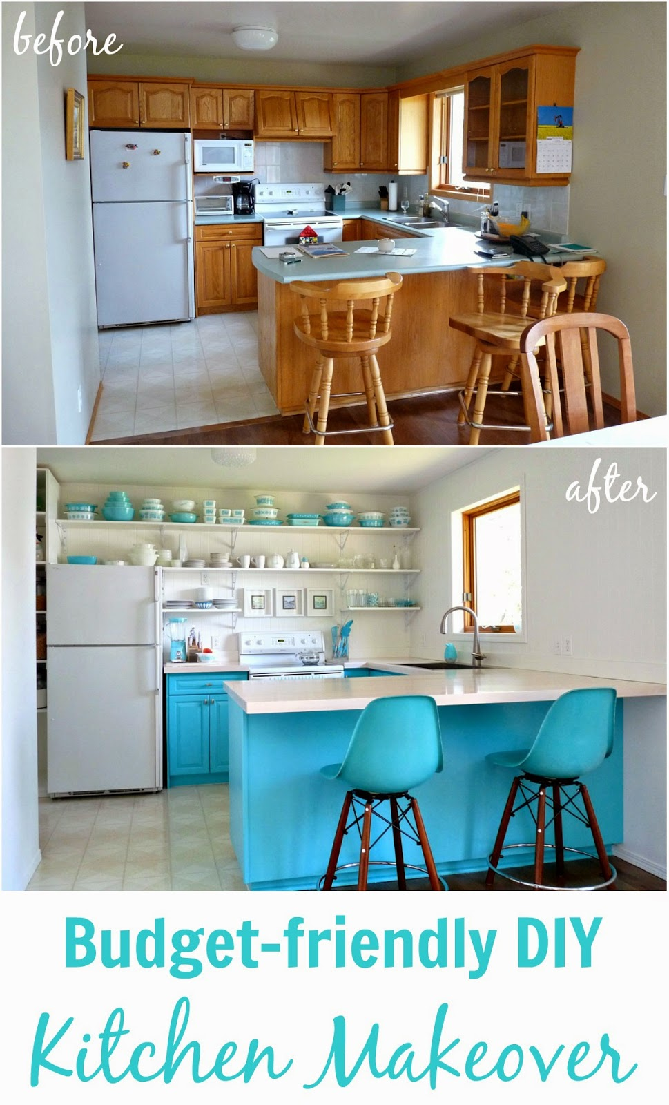Turquoise Kitchen Collage