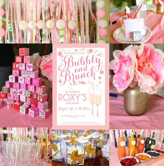 A Bubbly and Brunch Baby Shower