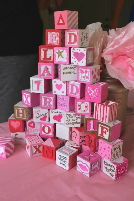 how to make big blocks for baby shower