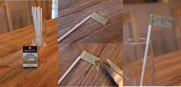 Champagne swizzle stir sticks