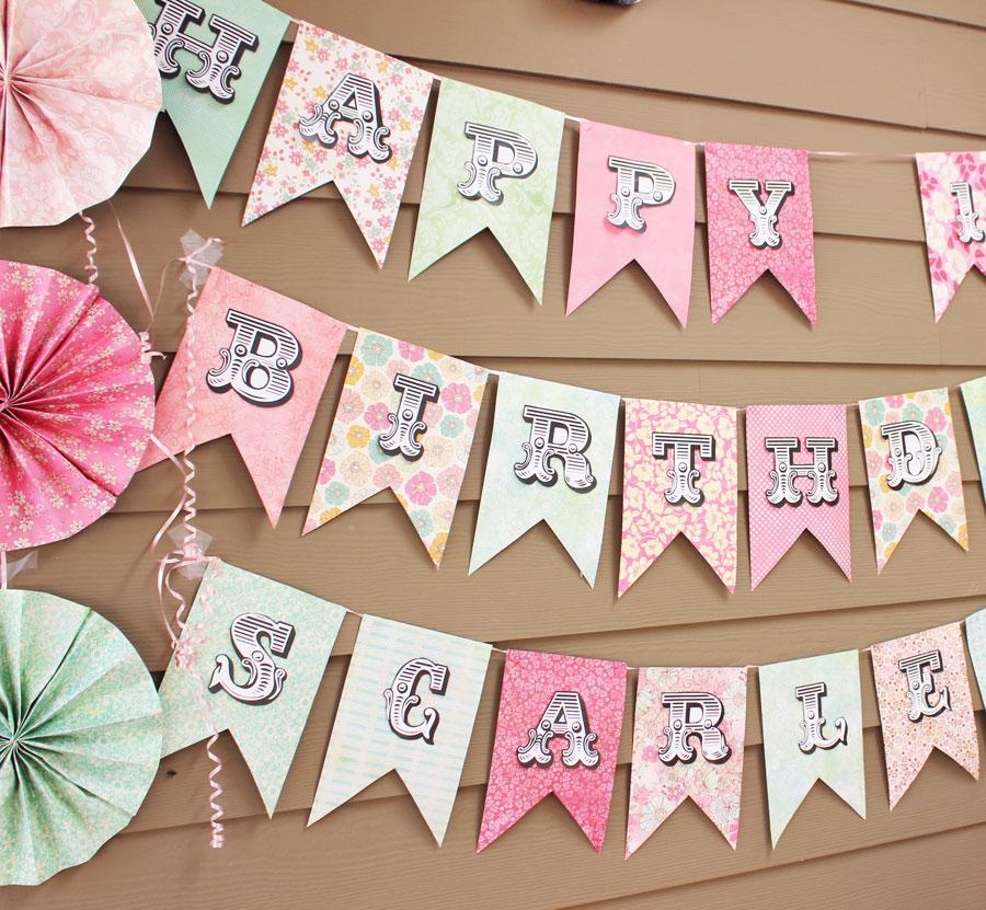 Best Scrapbooking Paper Banner Sign - SohoSonnet Creative Living EO75